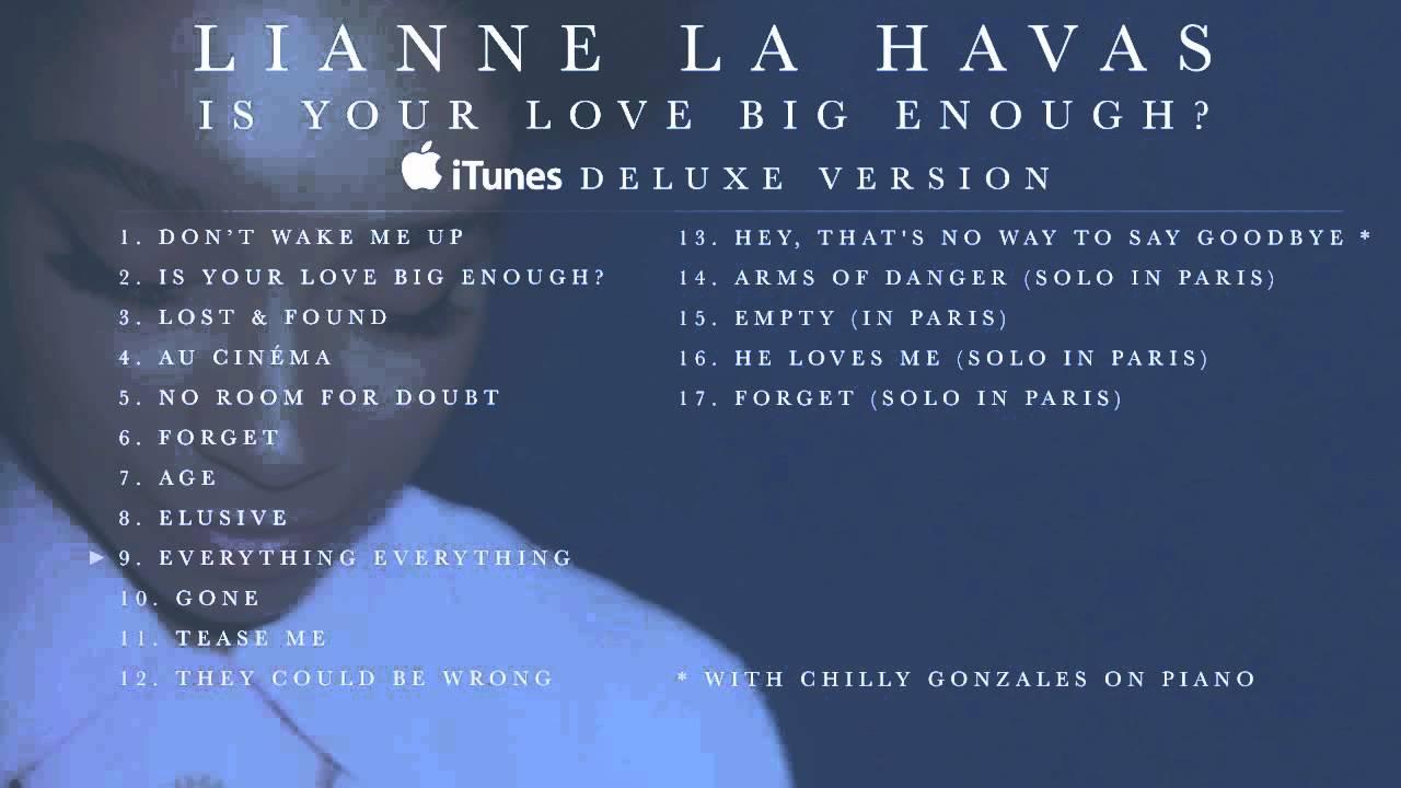 Lianne la havas is your love big enough? [album preview] youtube.