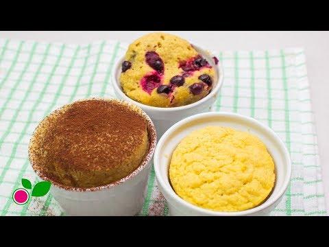☕3 easy Mug Cakes!   Low Carb   Yo +Green