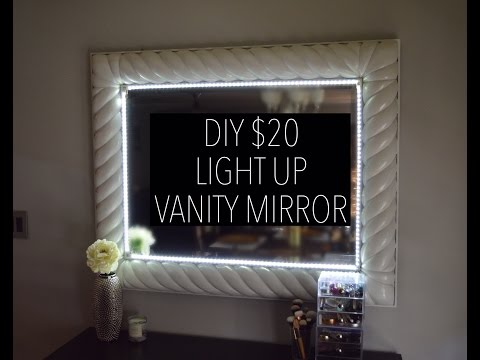 DIY $20 LIGHT UP VANITY MIRROR (with remote)