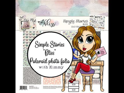 Simple Stories Bliss Polaroid photo folio tutorial