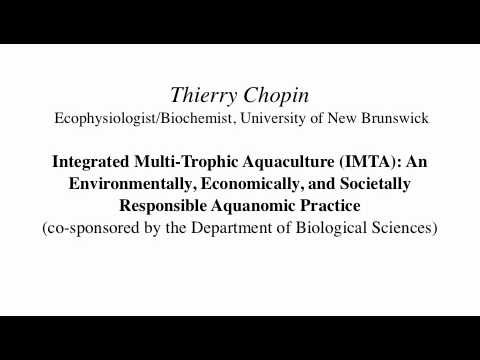 Thierry Chopin Sustainable Agriculture Seminar