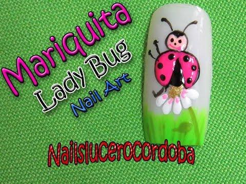Decorado de u as mariquita lady bug nail art nail art - Decorados de unas ...