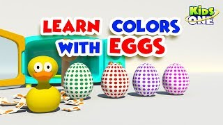 Surprise Eggs | Learn Colors with EGGS | Learn colour for Kids | KidsOne