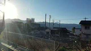 108.【新型車両E353系】特急スーパーあずさ4号新宿行き,甲府駅発車後車内放送