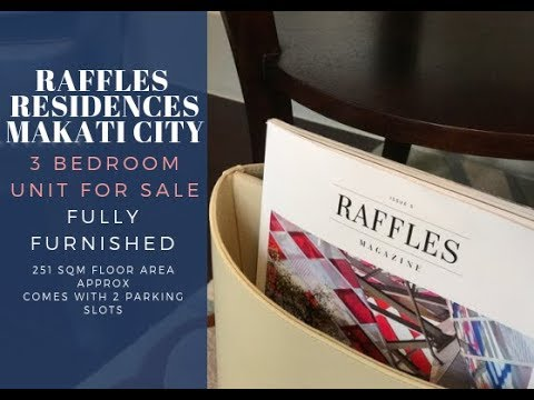 Raffles Residences 3 Bedroom Condo for Sale Makati Philippines