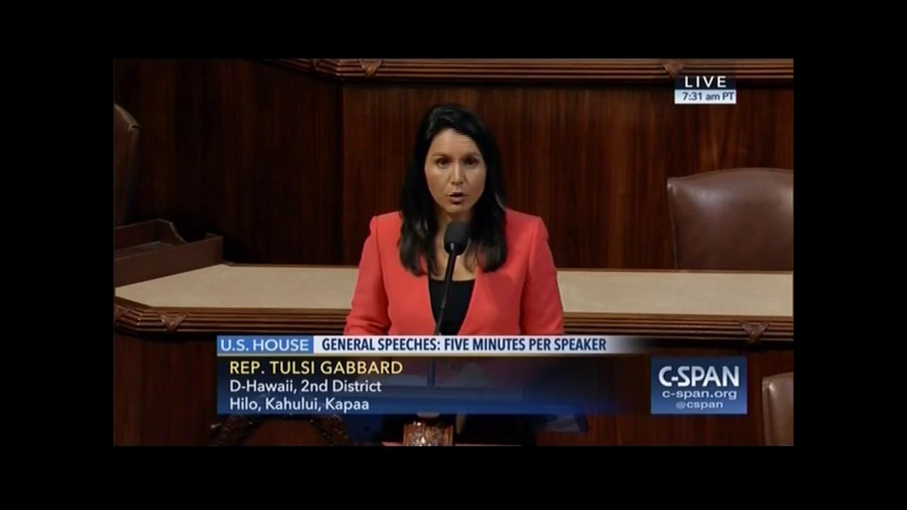 Rep Tulsi Gabbard Calls For Federal Decriminalization