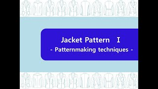 jacket pattern making  재킷 패턴 제…