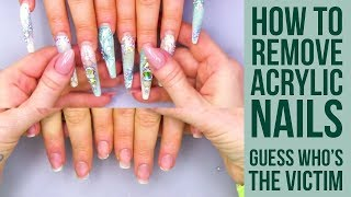 WORST CLIENT EVER IS BACK!! How To Remove Super Long Nails