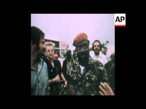 SYND 17 11 75 JONAS SAVIMBI AND HIS UNITA GUERILLA FORCES