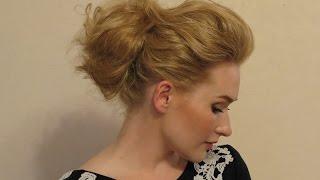 Видео урок 12 Легкая прическа пучок с использованием силиконового пончика.(Эта причёска не займет у вас много времени. Главное подготовить волосы перед укладкой. Я люблю делать такую..., 2016-04-14T05:50:15.000Z)
