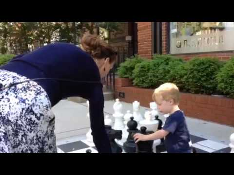 Playing chess at world chess hall of fame