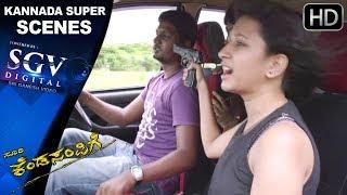 Kendasampige Kannada Movie | Kannada Scenes | Vicky Goes to Mumbai Scenes | Manvitha Harish