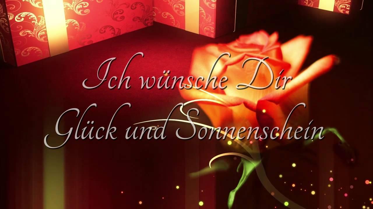 Geburtstagsgrusse In Deutscher Sprache Zum Verschicken Youtube