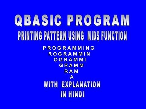 String Programs In Qbasic