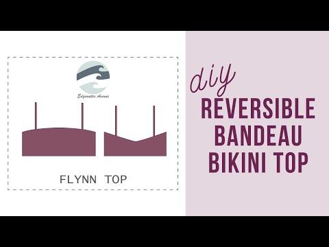 How To Sew A Reversible Bandeau Bikini Top