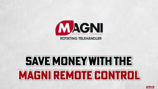 Save Money Using A Remote Control with a Magni Rotating Telehandler