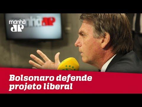Apoiado em Paulo Guedes, Bolsonaro defende projeto de liberalismo econômico