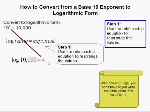 How to Convert from Exponent form to Common Log Form - YouTube