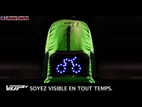 meilleure sélection b84fa f3307 Sac à dos de cyclisme VUP+ avec signaux lumineux à DEL