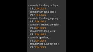 Cara download SAMPLING KENDANG secara gratis