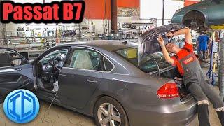 Как подключить камеру заднего вида на VW Passat B7