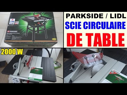 scie circulaire sur table parkside ptk 2000 lidl Scheppach table saw Tischkreissäge