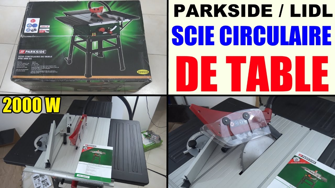 scie circulaire sur table parkside ptk 2000 lidl scheppach table saw tischkreiss ge youtube. Black Bedroom Furniture Sets. Home Design Ideas