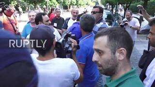 Greece  Police scuffle with protesters outside PM Tsipras' offices