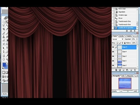 Tutorial como hacer unas cortinas con photoshop youtube for Como hacer cortinas corredizas