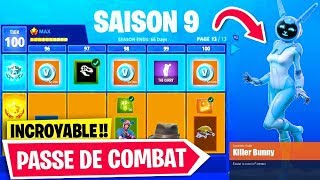 VOICI THE SAISON 9 - SEE THE COMBAT PAS FREE on FORTNITE!!