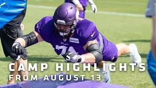 Highlights From August 13's Camp Practice with Kirk Cousins, Kyle Rudolph & More