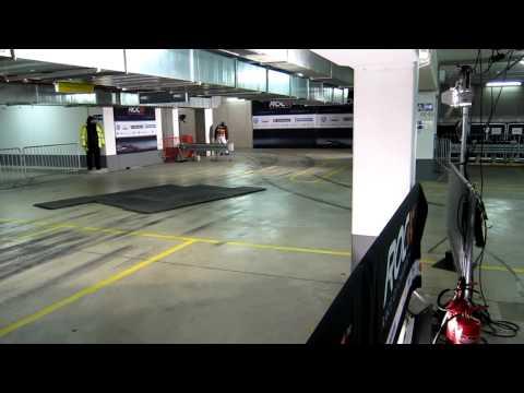 Filipe Albuquerque and Sebastien Loeb at the Car Park