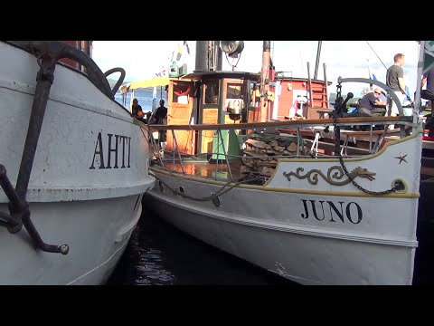 Old steamships at Kuopio city center harbor