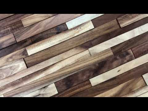 Acaciawood Timber Cladding | Handmade Wood Walls Panels | Feature Wall Wood Planks Designs