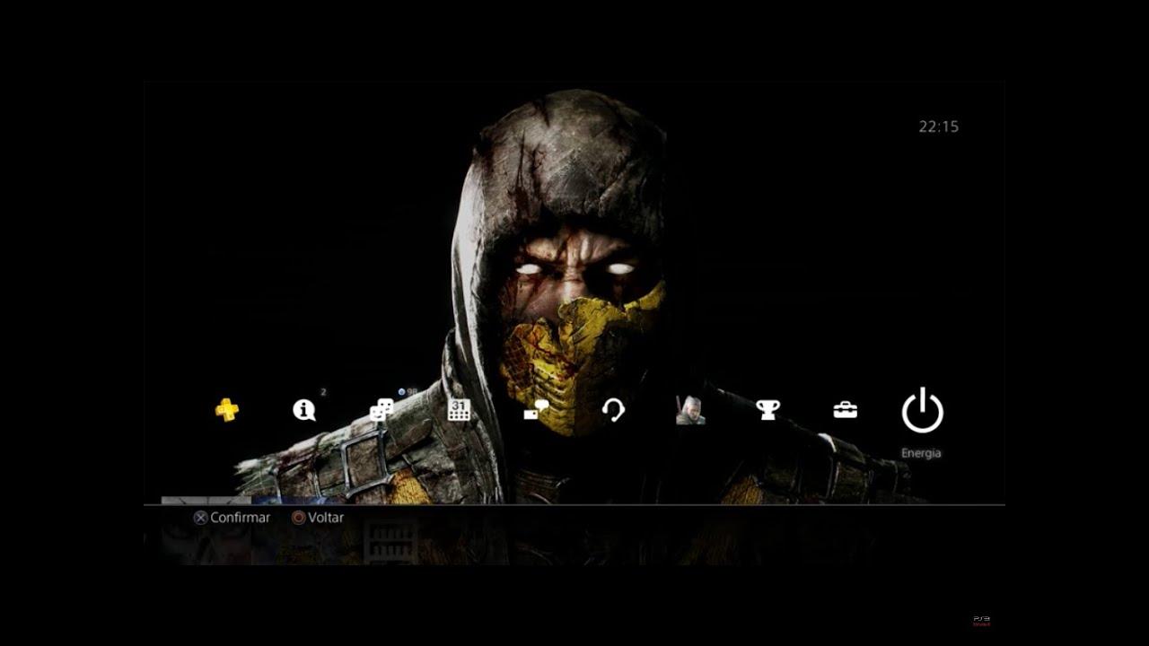 Mortal Kombat X FREE Scorpion PS4 Theme