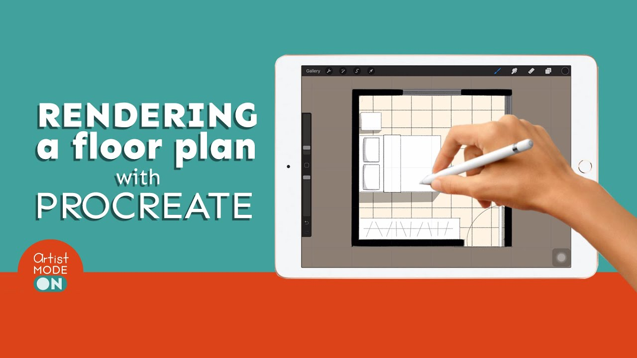 Drawing And Rendering A Floor Plan On The Ipad With Procreate Youtube