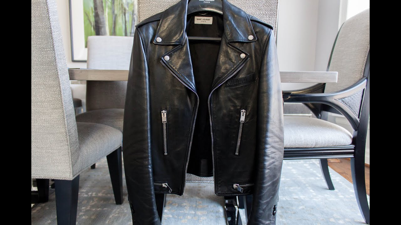 eb6f1f30 Saint Laurent leather biker jacket- Felix Fashion Reviews