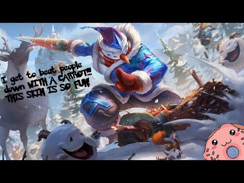I GET TO BEAT PEOPLE DOWN WITH A CARROT! Snow Man Yi PBE Skin Gameplay