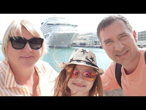 Отправляемся в круизное путешествие лайнер Costa Fascinosa порт Савона Италия