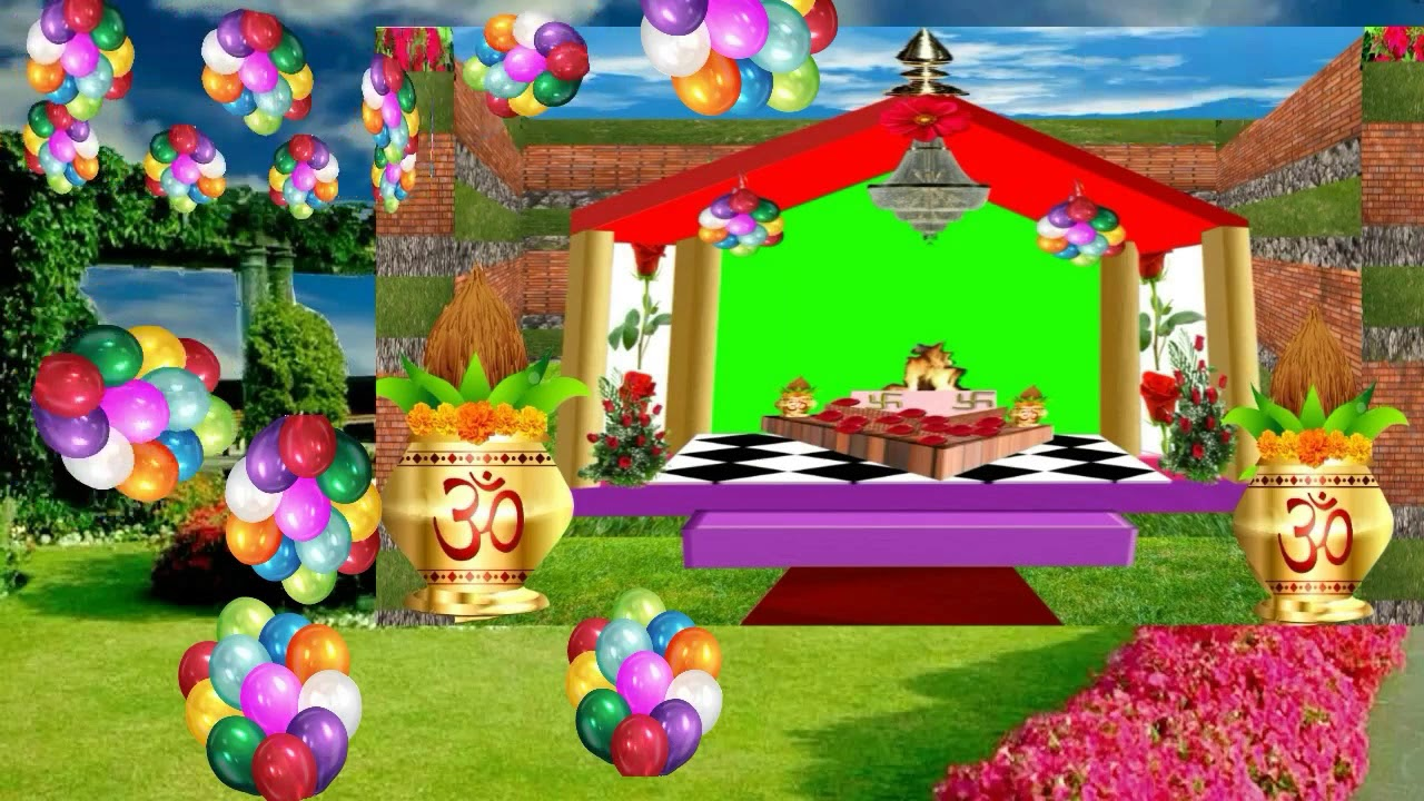Wedding Frame Green Screen #12 Chroma Key - Copyright FREE Video