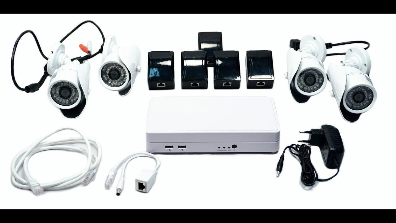 Комплект видеонаблюдения HD. Видеонаблюдение без проводов.