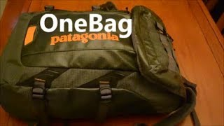 My ideal Patagonia Black Hole 35L pack and Tom Bihn Ristretto OneBag combo