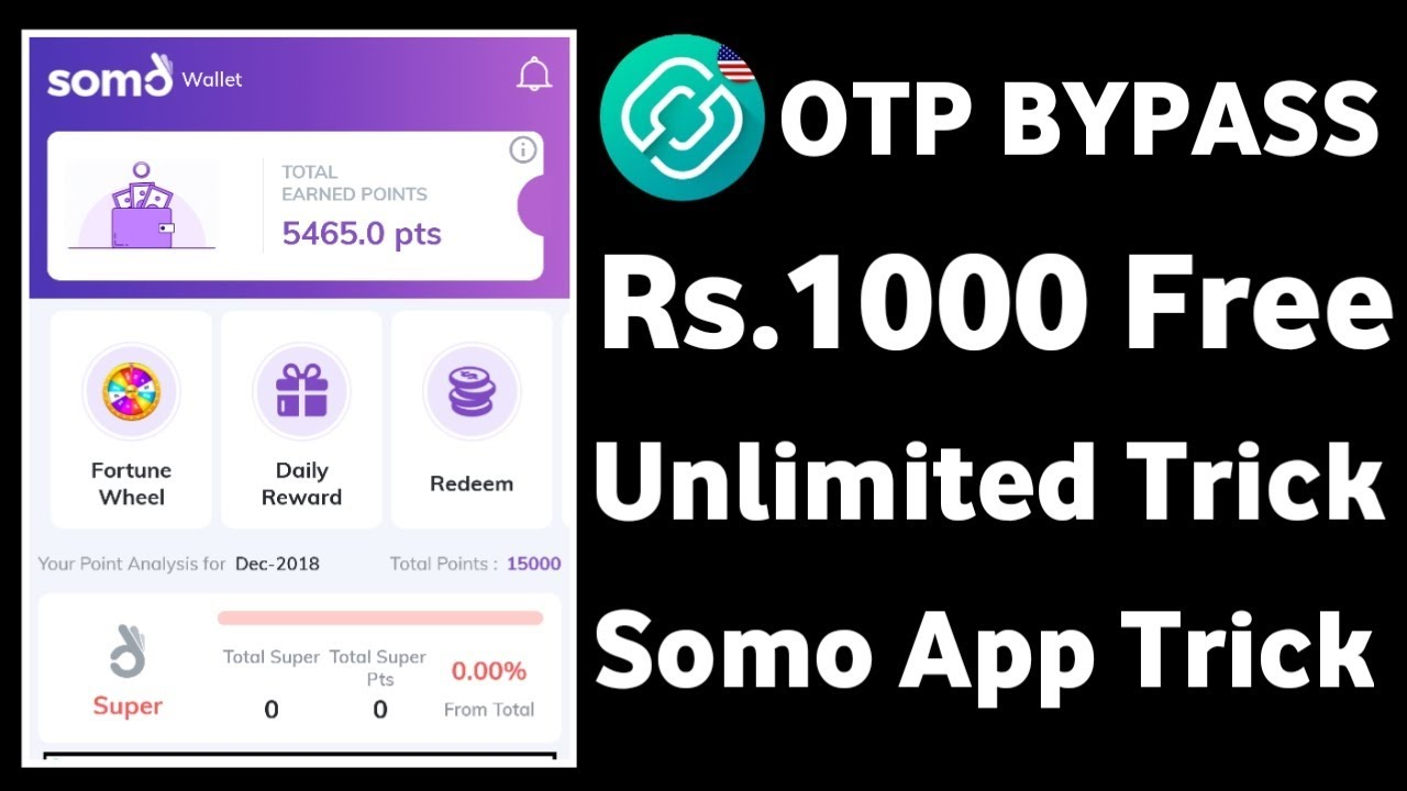 Unlimited Trick !! 5rs Per Refer !! OTP Bypass Trick !! Somo App Loot