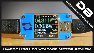 Unboxing UM25C USB LCD Voltage Meter Quick Review Bluetooth