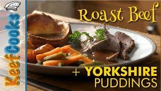 Roast Beef & Yorkshire Puddings   Traditional British Sunday Roast