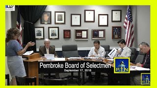 Pembroke Board of Selectmen - Long Range Capital Plan