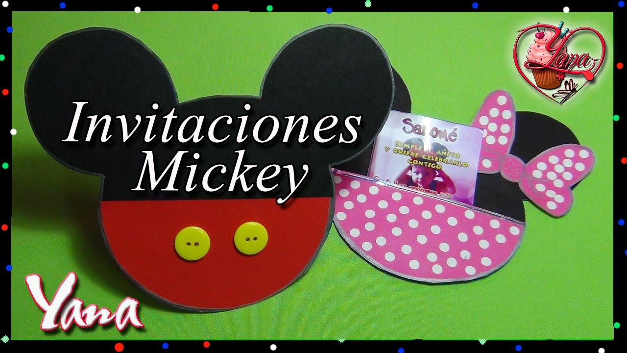 Tarjeta Invitación Mickey Mouse - Yana - YouTube