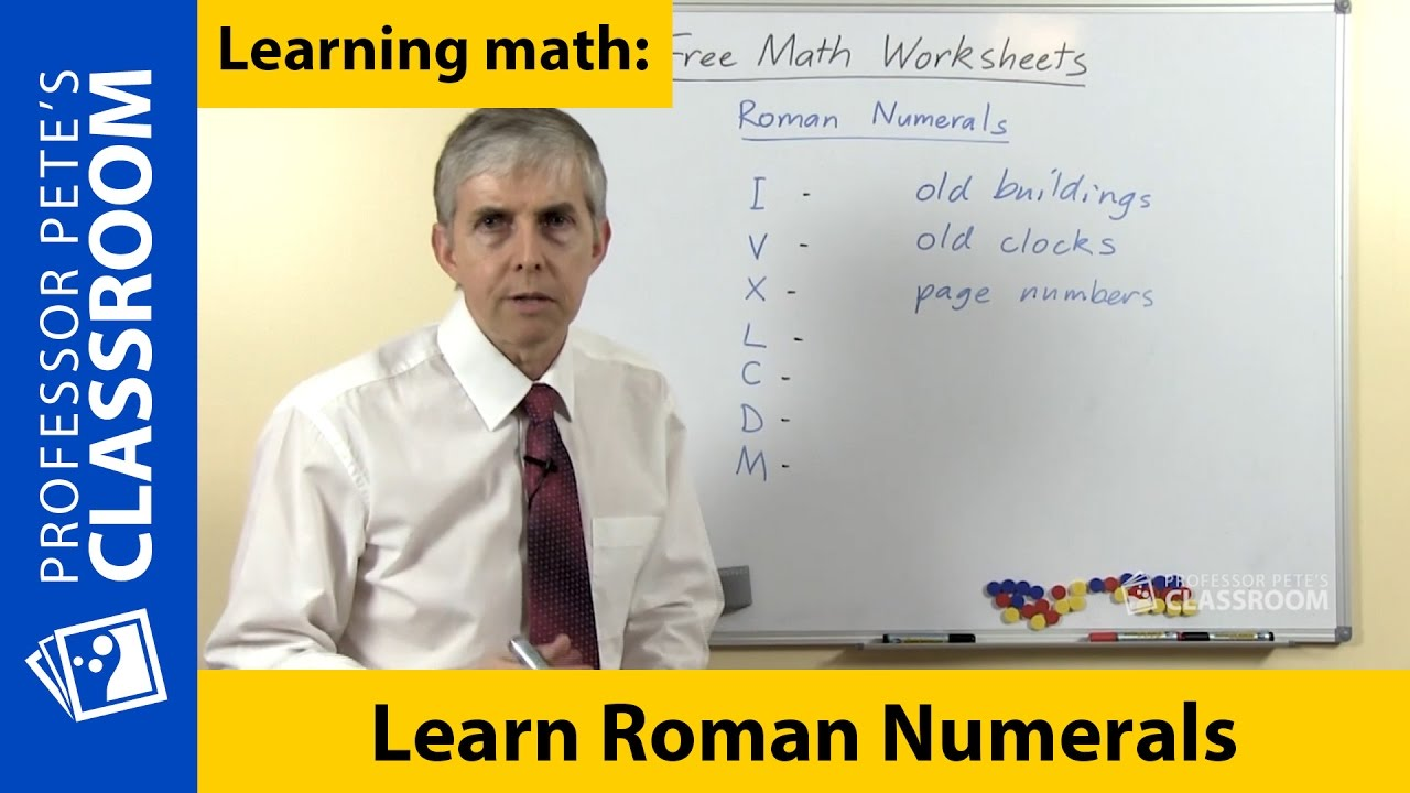 Worksheet How To Learn Roman Numerals learn about roman numerals youtube numerals