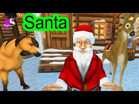 Helping Santa ! Christmas Town  Star Stable Horses Game Let's Play with Honey Hearts Video