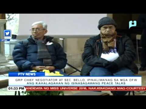 DOLE Sec. Bello, ipinaliwanag sa mga OFW ang kahalagahan ng isinasagawang Peace Talks